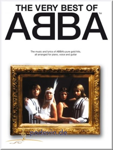 The Very Best Of Abba – Notas Songbook Piano, canto y guitarra Partituras