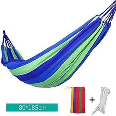 Leinwand Verdickung Individuelle Freizeit Hängematte mit weißen Krawatte Seil Leinentasche 80 * 150 Cm von Wujp auf Gartenmöbel von Du und Dein Garten