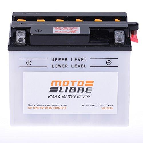 Batteria 12V 12AH yb12b della B2di piombo acido motolibre 51212con Pack Suzuki GS 450S gl51F 88–88