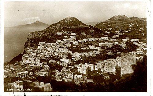 1936 capri panorama vienna lotteria di merano fp b/n vg cartolina postale
