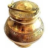 Santosh Bhakti Bhandar Brass Pavitra Gangajali Lota Kalash (Small, Golden)