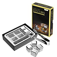 Aerb® Set of 6 Whiskey Stainless Steel Reusable Ice Cubes
