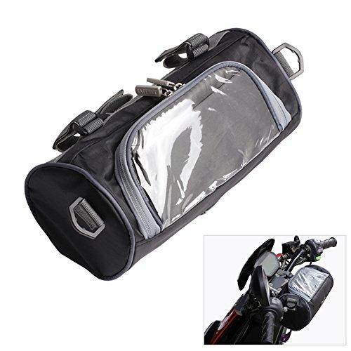 Motorrad-Tasche, Motorrad-Lenker-Tasche, mit kleiner Touch-Screen-Tasche, abnehmbarer Schulterriemen, wasserdicht (Motorrad-schwanz-net)