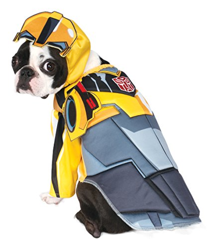 Rubies Costume Transformers Bumble Bee Deluxe Pet Kostüm, Klein (Bee Kostüm Bumble Hund)