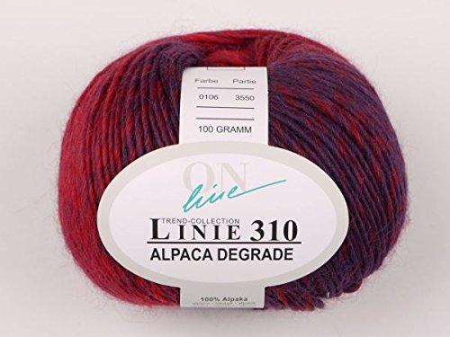 Lana: 100% alpaca Gomitolo di lana, Col. 0106, 100gr/180m