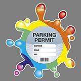 Parking Permit Holder Skin RAINBOW SPLAT - FREE POSTAGE