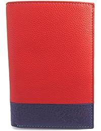 Francinel [M0570] - Portefeuille cuir 'Troubadour' rouge multicolore