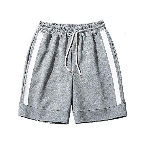 Fuweiencore pantaloncini sportivi estivi per il tempo libero pantaloncini sportivi allentati aderenti trecce jogginghose mit elastic waistband (colore : grigio, dimensione : m)