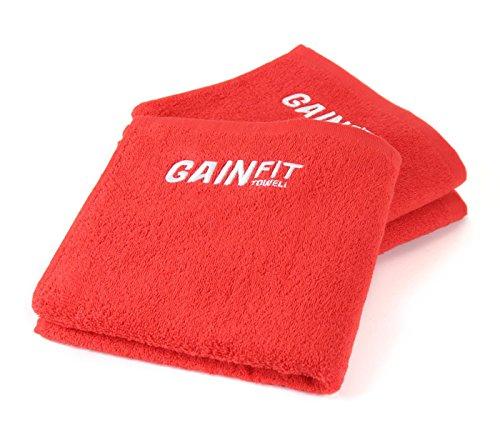 GAINFIT Fitness-Handtücher im 3er-Set mit praktischer Tasche für Handy, Schlüssel, Karte und mehr – Das ideale Gym Handtuch aus 100% Baumwolle