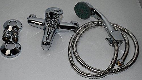 Badewannenarmatur mit Handbrause (Brauseschlauch) | Wannen Armatur | Einhebelmischer mit Handbrause | Badarmatur | Wasserhahn | Badewanne | Badezimmerarmatur | -