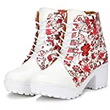 Best Ankle Boots - FASHIMO Beautiful Floral Pattern Ankle Length Boot Review