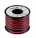 TUOFENG Fil 16 AWG, fil de silicone de 20 m Fil de cuivre étamé Souple et flexible Résistance à haute température 2 fils séparés 10 m Noir et 10 m Fil rouge pour imprimante 3D, cordons de test