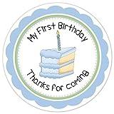 Die besten Boy First Birthday Geschenke - Sandy66Twain Baby Boy First Birthday Party-Aufkleber, Kerze und Bewertungen