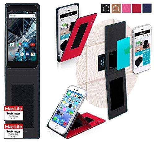 reboon Hülle für Archos 55 Graphite Tasche Cover Case Bumper | Rot | Testsieger