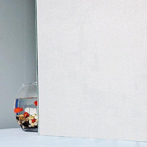 Fensterfolie, nicht klebend, statische Haftung, als Dekoration oder für mehr Privatsphäre, Anti-UV, undurchsichtig, weiß gefrostet, 60x200