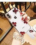 Huawei Enjoy 8case diamante, lusso Lady foglia con strass pietra Jewelled + custodia TPU trasparente per Huawei Enjoy 8ldn-al00con perla cordino Sandali Adventure Seeker, punta chiusa - T - Bambini