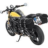 QBag Motorrad-Satteltaschen Satteltaschenpaar 10 Canvas schwarz 44 Liter Stauraum, Unisex, Chopper/Cruiser, Ganzjährig, Textil