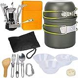 G4Free Outdoor Camping pan Hiking Cookware Backpacking Cooking Picnic Bowl Pot Pan Set