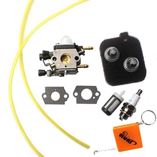 HURI Vergaser + Benzinfilter für Stihl BG45 BG46 BG55 BG65 BG85 SH55 SH85 Leaf Blower Rasenmäher Ersetzt Zama C1Q-S68G, 42291200606, 42291201800