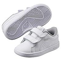 Puma Smash v2 L V PS, Unisex Kids' Sneakers, White, 32 EU