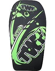 TWF Tabla de bodyboard para niños, EPS, 93,98 cm, color negro y verde