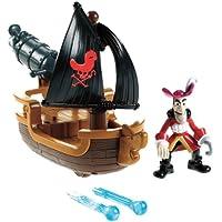 Mattel W5264 Disney Jake y los piratas de Nunca Jamás - Garfio con barco cañonero