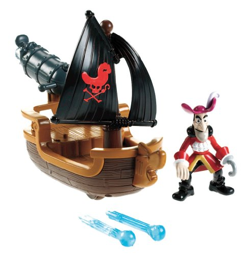 Mattel Fisher-Price W5264 - Jake und die Nimmerland Piraten Hooks Kanonenboot (Hook Captain Kinder)