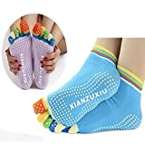 #9: Women Cotton sock Antislip fitness colorful sports / Yoga /Gym / Sports / Pilates / Exercise / Dance / Socks (Random Color)