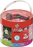Fitt 650303Schlauch ausziehbar Yoyo Komfort 30m + Zubehör, rot, 1x 2x 3cm