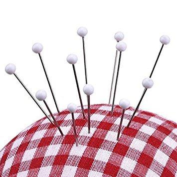 opf Pins Box für Schneiderpuppe weiß Ball Glas Kopf Pins (38mm) ()