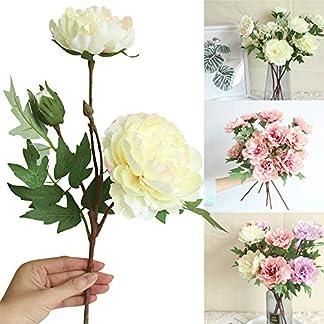 HCFKJ Artificial Solo Rama peonía Flor Artificial Ramo de la Boda Novia Hortensia Decorativo Falso Ramo de Flores