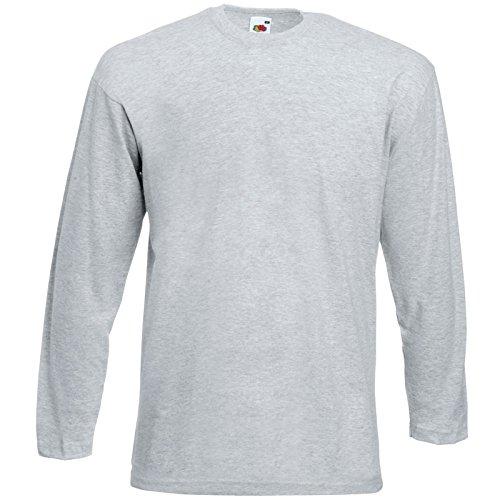 Fruit of the Loom Langarm T-Shirt 61–038–0 Gr. XL, Grau - Heather ()