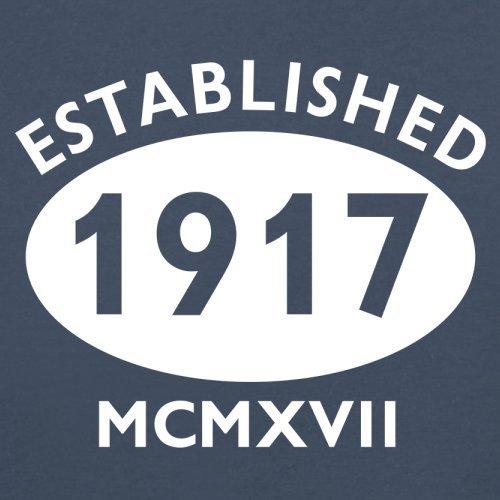 Gegründet 1917 Römische Ziffern - 100 Geburtstag - Herren T-Shirt - 13 Farben Navy