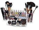 Oi Labels Grande Acrílico Transparente maquillaje/Cosmético/Joyería/Esmalte de uñas Organizador Soporte de Exhibición (con alto grado 3mm acrílico). EN CAJA DE REGALO