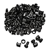 deleyCON 100x M6 Cage Nuts Screw Set for Network Cabinets -...