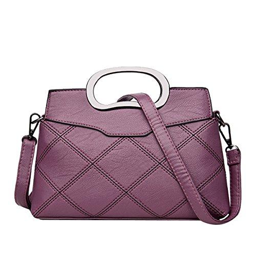 Sacchetti Di Borsa Della Borsa Della Borsa Del Sacchetto Di Traversa Del Sacchetto Di Cuoio Di Modo Delle Donne Di Modo Multicolor Purple