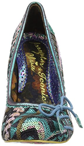 Irregular Choice Flexi Lexi, Escarpins femme Vert - Green (Green Multi)