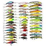 H.Y.BBYH Angelköder HENGJIA 43 STÜCKE Fly Fishing Lure Set 6 Modelle Angelgerät Fictile Bestrafung Köder Wobbler Karpfen Angelhaken Fischköder