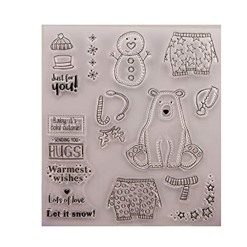Moonbrid Hund DIY Silikon Klar Stempel Blatt Scrapbooking Album Foto DIY Weihnachten Valentinstag Thanksgiving Geschenke (Halloween Hund Fotos)