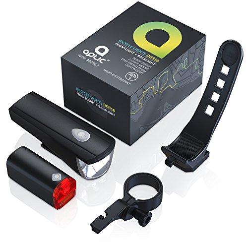 CSL - LED Fahrradbeleuchtung Set StVZO zugelassen | Fahrradlicht / Fahrradlampe / Fahrradleuchte | inkl. Front- und Rücklicht | 1x Lichtstärke-Modus | energiesparend | stoßfest - 6