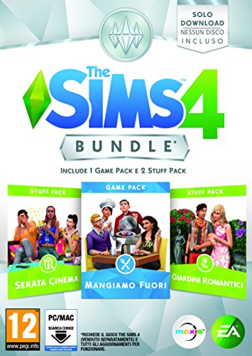 The Sims 4 Game & Stuff Pack 3: Mangiamo Fuori, Serata Cinema, Giardini Romantici - CD non incluso