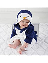 6943ee3559f2b DDOQ Dessin animé Enfants Kid Garçon Fille Coton Pingouin Forme À Capuche  Bande Dessinée Peignoir Couverture Plage Serviette De Bain…
