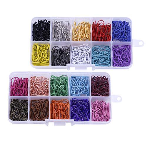 F Fityle 600pcs /Pack Birne Pins Kürbis Calabash Pins in 10 Farben Strickzubehör Häkelnadel Set Maschenmarkierer Sicherheitsnadeln -