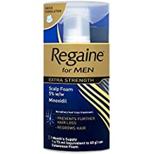 Regaine for Men Extra Strength Scalp Foam - 1 Month Supply (73ml) - Pack of 6