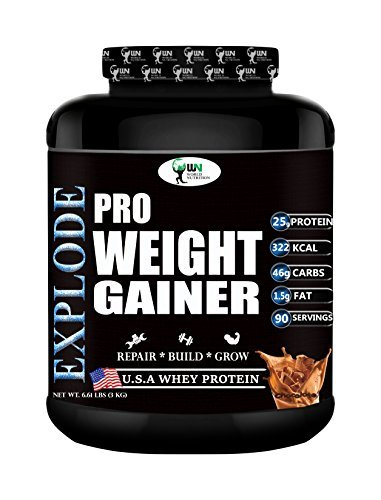 World Nutrition Explode Pro Weight Gainer Powder - 3 Kg (Chocolate)