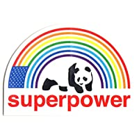 Enjoi Superpower Skateboard Sticker - 10cm wide approx. rainbow panda skate board sk8 skate surf