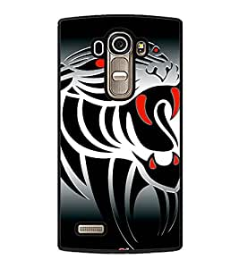 Fuson Animated Tiger Design Designer Back Case Cover for LG G4 :: LG G4 Dual LTE :: LG G4 H818P H818N :: LG G4 H815 H815TR H815T H815P H812 H810 H811 LS991 VS986 US991 (Abstact Art Paint Painting Illustrations)