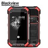 sunsetglow Blackview BV6000 3GB / 32GB Rot, 4,7 '' Robustes Smartphone Entsperrt IP68 Wasserdicht, Octa-Core Rui, Dual-Sim, 5MP + 13MP Kamera, Corning Gorilla Glas 3, NFC, Schnellladung, 4500mAh