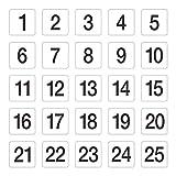Tisch Zahlen 1-2595x 100mm Hochzeit Kneipen Restaurants Cafe Clubs Bar