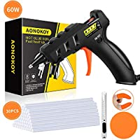 Hot Glue Gun, AONOKOY 60W Mini Glue Gun with 30pcs Glue Sticks(7 * 150mm), Anti-hot Cover Melt Glue Gun Kit for Creative Arts & Crafts, Home Quick Repairs, Festival Decoration